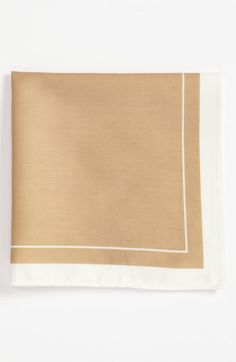 Michael Kors Pocket Square available at #Nordstrom taupe $19.50