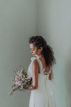 Bridal Makeup Looks, Wedding Hair And Makeup, Wedding Updo, Hair Makeup, Natural Hair Wedding, Black Wedding Hairstyles, Bride Hairstyles, Curly Bridal Hair, Curly Hair Styles
