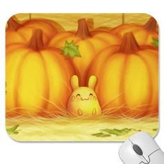 Pumpkin Bunny Mouse Pad (zazzle.com)