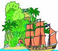 Jeu d'intérieur pour 2 joueurs. Monter les bateaux et île et village. Le but est Le but du jeu est d'empêcher les pirates de ramener sur leur île les trésors qu'ils ont pillés dans la ville, en coulant leur bateau avec des balles ou des boules de cotillons.