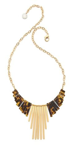 Gemma Redux tortoiseshell drop necklace.