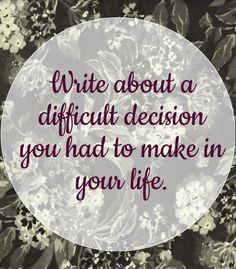 ...difficult decision