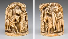 Chess Piece of a Knight, ca. 1120–40. English. Ivory. Allen Memorial Art Museum, Oberlin College, Oberlin, Ohio, R. T. Miller Jr. Fund (1948.310)