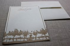 Vineyard Letterpress Thank You Card by DesignDistrictDC on Etsy by Design District