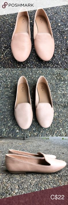 Call It Spring Vegan Leather Light Pink Loafers – Shoe Loafer Shoes, Loafers, Spring Shoes, Leather Flats, Vegan Leather, Almond, Toe, Comfy, Detail