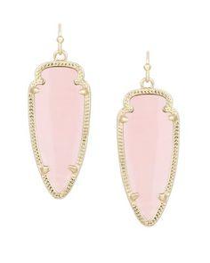 Sky Earrings in Rose Quartz- Kendra Scott Jewelry.