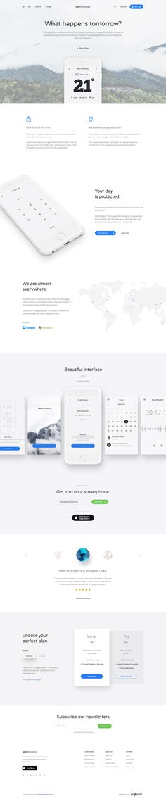 New Providence Landing Page is a clean, elegant and simple Landing Page with handcrafted iPhone Mockups. You will love this stylish white freebie. Gui Interface, User Interface Design, App Landing Page, Landing Page Design, Apps, Modern Website, Photoshop, Ui Web, Web Layout