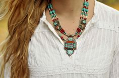 Dharmashop.com - Masterpiece Vintage Turquoise and Silver Tibet Necklace, (http://www.dharmashop.com/masterpiece-vintage-turquoise-and-silver-tibet-necklace/)