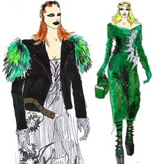 Marc Jacobs Fall'16 illustrated by Anjelica Roselyn