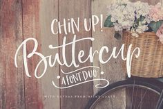 Chin Up Buttercup! Font Duo & Extras by Nicky Laatz on @creativemarket