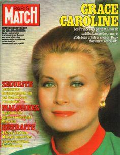 PARIS MATCH N°1717 grace de monaco   1982