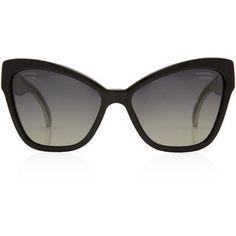 Chanel Black Cat Eye Sunglasses