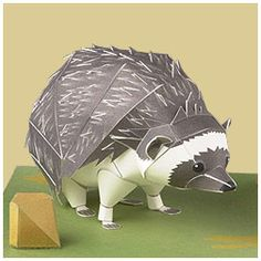 South African Hedgehog - | Paper Crafts(Origami) - Entertainment | YAMAHA MOTOR CO., LTD.