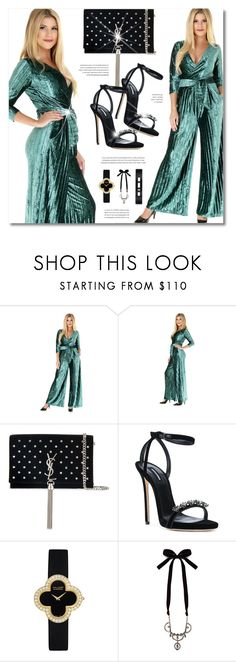 """""""DesirVale"""" by defivirda ❤ liked on Polyvore featuring Yves Saint Laurent, Dsquared2, Van Cleef & Arpels, Miu Miu, Messika, StreetStyle, chic, dress and DesirVale"""