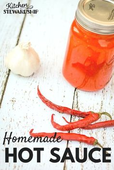 Homemade Hot Sauce - make your own Frank's hot sauce with cayenne peppers - two methods, couldn't be easier!
