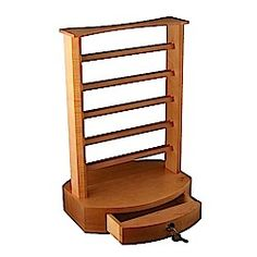 Our display racks are manufactured to your specifications. Our custom wood display racks options are virtuously endless. Please visit http://www.brownwoodinc.com/displays/display-racks.asp to find more information.