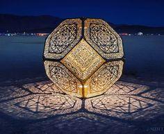 Beautiful art. Night at Burning man  #art #wild #amazing #desert #party #weekend…