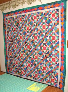 """Bonnie Hunter 2013 Mystery Quilt Celtic Soltice by Cherry at Cherry Quilts """"Caribbean Solstice""""(http://cherryquilt.blogspot.com/2014/01/last-day-of-january-recap-newfo-link-up.html)"""