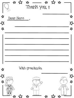 Image result for thank you letter to teachers from for Veterans day thank you letter template
