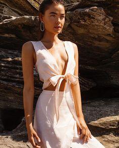 The Lora Wrap Top and Rosa Wrap Skirt | Available Online Now | @bonnie_hansen_photography @bambilegit | @joelphillipsmakeup @1laurenslater |