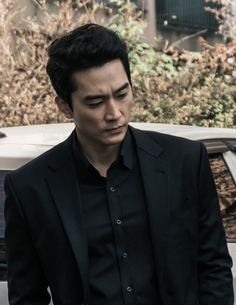 photos/chill - Black is definitely your color, Mr. So Grimm Reaper Song Seung Heon, Black Korean, Korean Men, Asian Men, Asian Actors, Korean Actors, Korean Dramas, Sung Hyun, Korea University