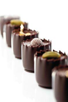 Just desserts, delicious desserts, dessert recipes, chocolate shots, chocol Chocolate Dreams, Chocolate Delight, Death By Chocolate, I Love Chocolate, Chocolate Shop, Chocolate Cups, Chocolate Lovers, Chocolate Desserts, Belgian Chocolate
