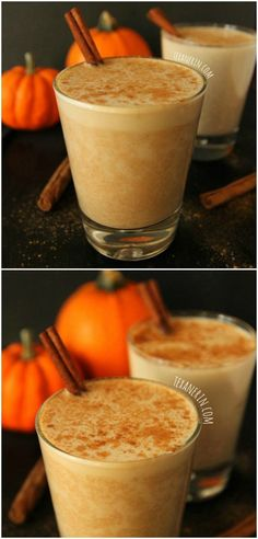 This pumpkin chai latte recipe is lightly sweetened with maple syrup and is full of warm, cozy fall spices! Naturally gluten-free, dairy-free and vegan.