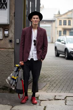 Streetstyle: Kim Wonjung in Milan during Milan Menswear Fashion Week F/W 2014