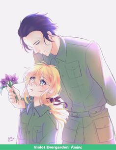 violet evergarden and major Sad Anime, Kawaii Anime, Manga Anime, Anime Art, Neko, Violet Evergreen, Violet Evergarden Anime, Otaku, Violet Garden
