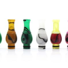 Acrylic Round Mouth Cartridge Adapter Drip Tips for 510 / ViVi Nova / DCT (8-Pack)$29.99