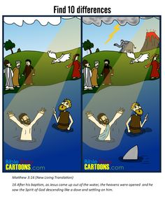 The Baptism of Jesus - Find 10 differences