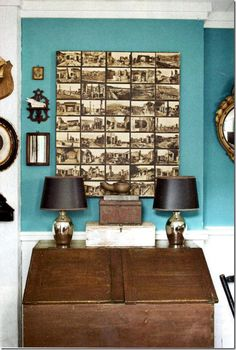 like a painting #postcards #diy #walls
