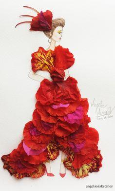 Flower Fashion 7 by angelaaasketches.deviantart.com on @deviantART