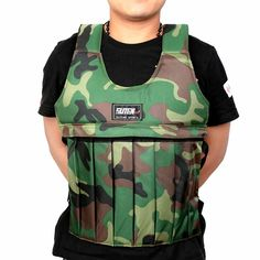 Fitness & Body Building Camouflage Weighted Vest Adjustable for Workout Training Max Weight Loading Boxing Training Exercise Wearing Equipment Weight Lifting, Weight Vest Training, Camouflage, Yoga Gloves, Bodybuilding, Weighted Vest, Sport Outfit, Boxing Training, Fitness Studio