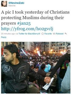 Christians protecting Muslims during prayer :)