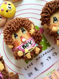 ⭐️https://www.facebook.com/timmymacaroons ⭐️Cute Macaron⭐by Love Macaroons⭐️馬卡龍 Monchhichi 蒙奇奇