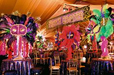 Bar and Bat Mitzvah Party Themes. 40th Party Ideas, Fun Party Themes, Event Themes, Bat Mitzvah Themes, Bat Mitzvah Party, Bar Mitzvah, Mardi Gras Decorations, Ball Decorations, Party Like Its 1999
