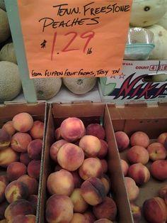 Local #Memphis Freestone Peaches at Easy-Way: Delicious!