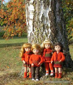 Осень вновь разбросала листвой по тропинкам свои акварели ... Игровые куклы от Käthe Kruse. Minouche. Одежда своими руками / Другие интересные игровые куклы для девочек / Бэйбики. Куклы фото. Одежда для кукол