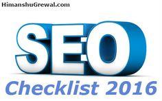 Is article main aapko 35 se jyada SEO Checklist ke bare main bataya gaya hai. Yeh aapki search engine ranking ko increase karne mai help karega 2016