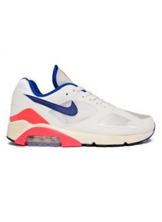 the best attitude 83cab 1c329 Buy Nike Air Max 180 OG vintage running shoes in SailUltramarine-Solar  Red-Black.