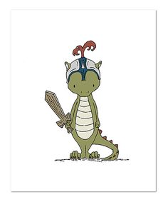 Look at this Sweet Melody Designs Dragon Knight 8'' x 10'' Print on #zulily today!