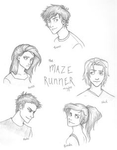 The Maze Runner by Iabri71 on deviantART-These are good drawings but I find that newt should look like he has more of a build I guess and less put together,(like more tired looking I guess lol) and that Minho should look more of how the book describes him. And Thomas doesn't really look like how I pictured him to be in the book, maybe it's just his hair though, lol. Oh, and Teresa matches the books description amazingly, lol.