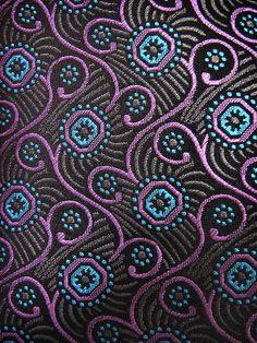 Purple Aqua Swirls Tie