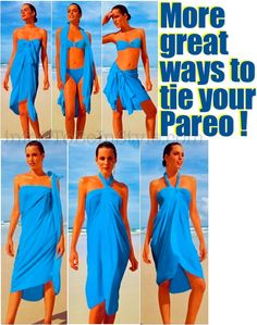 Different ways to tie a sarong/kanga, of which I have many!