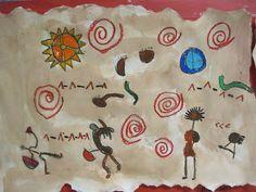 Native American rock drawing
