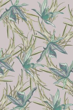 """""""Orchids in Wild Grasses"""" Botanical Extract fabric design competition entry by Anna Bowring"""