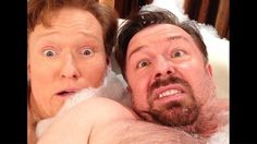 The Conan O'Brien And Ricky Gervais In A Bathtub Selfie: