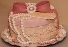 Happy 60th Birthday;) - My second  Jewelry Box Cake:)