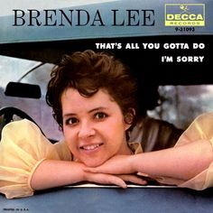 July 1960 - Brenda Lee went to on the US singles chart with 'I'm Sorry' it made in the UK. Seeking publicity the 11 tall singer was once billed as a old midget and had the nickname Little Miss Dynamite. Brenda Lee, Country Music Stars, Country Singers, Vinyl Cd, Vinyl Records, Rock Artists, Music Artists, Popular Bands, 60s Music